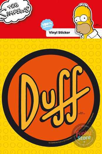 The Simpsons Duff Vinyl Sticker