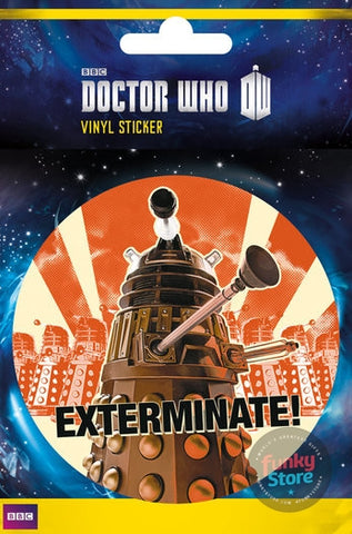 Doctor Who Exterminate Vinyl Sticker