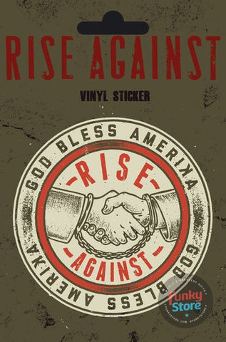 Rise Against Shaking Hands Vinyl Sticker
