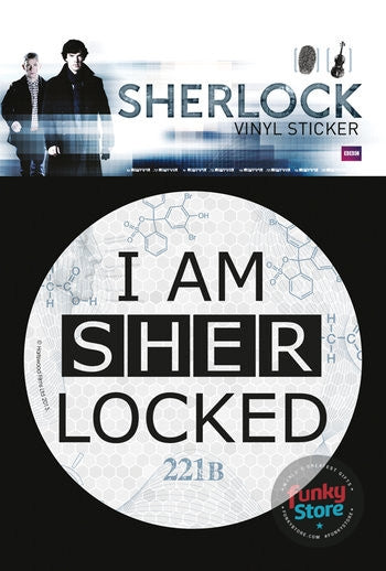 Sherlock Sherlocked Vinyl Sticker