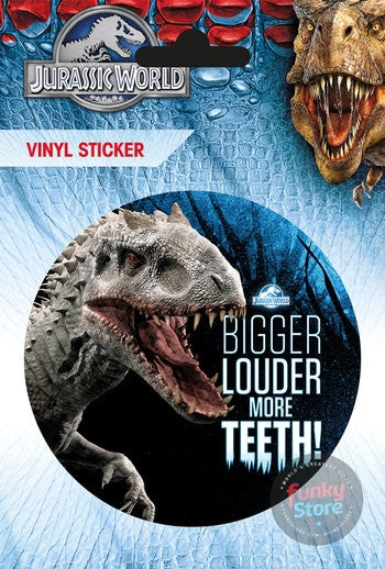 Jurassic World More Teeth Vinyl Sticker