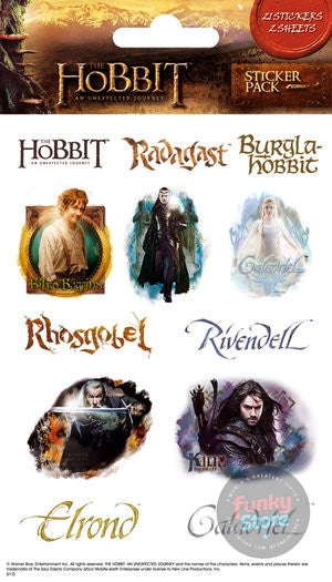 The Hobbit Characters Sticker Pack (Shimmer)