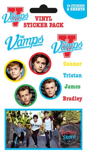 The Vamps Mix Sticker Pack