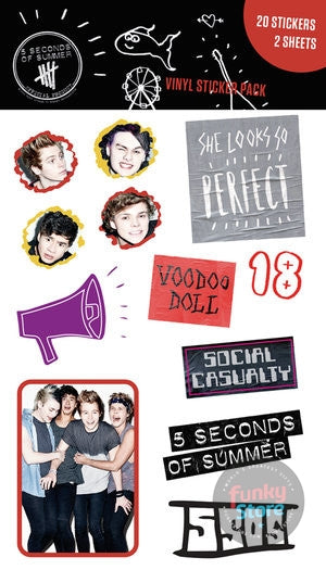 5 Seconds of Summer Mix Sticker Pack