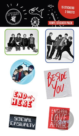 5 Seconds of Summer Band Sticker Pack