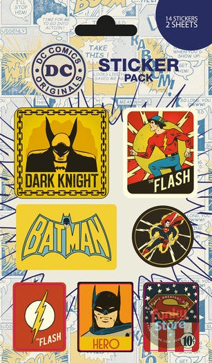 DC Comics Retro Sticker Pack