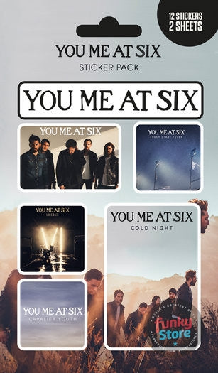 You Me At Six Mix Sticker Pack