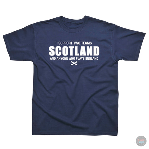 Scotland - Two Teams - Navy T-Shirt