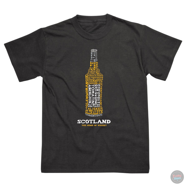 Scotland - Home of Whisky - Black T-Shirt