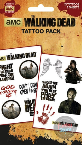 The Walking Dead Characters Tattoo Pack