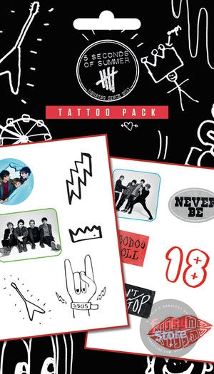 5 Seconds of Summer Mix Tattoo Pack