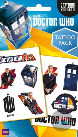 Doctor Who Mix Tattoo Pack