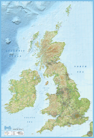 BRITISH ISLES MAP WALL MURAL