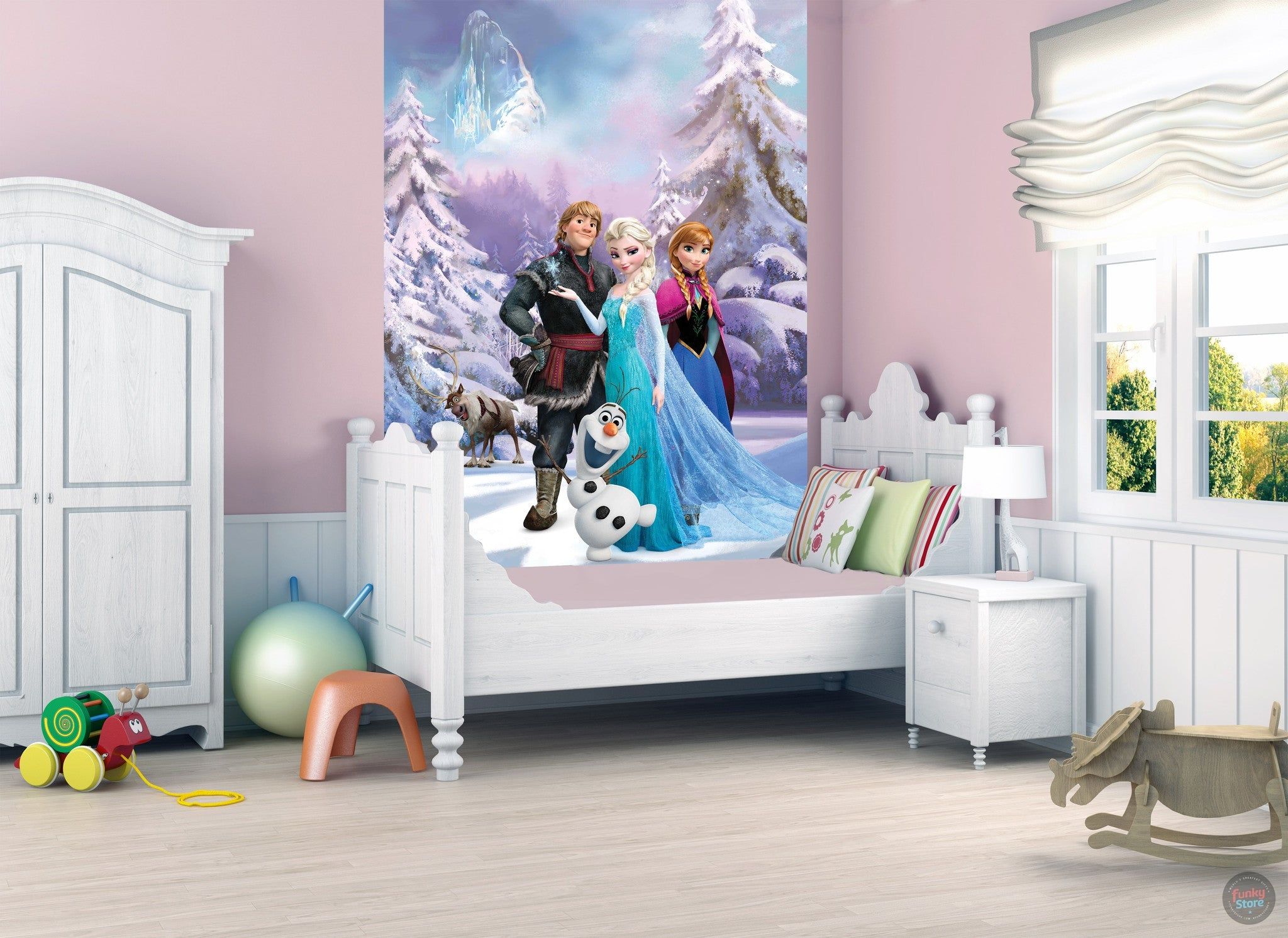DISNEY FROZEN WALL MURAL Part 60