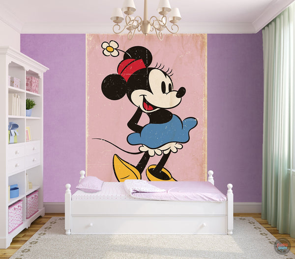 MINNIE MOUSE WALL MURAL