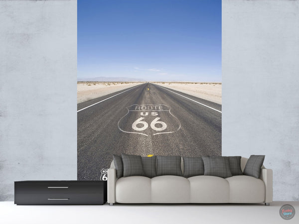 ROUTE 66 ROAD TWO PIECE MURAL