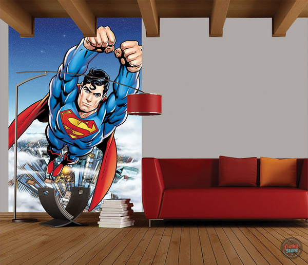 CARTOON SUPERMAN WALL MURAL