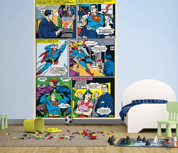 SUPERMAN COMIC WALL MURAL