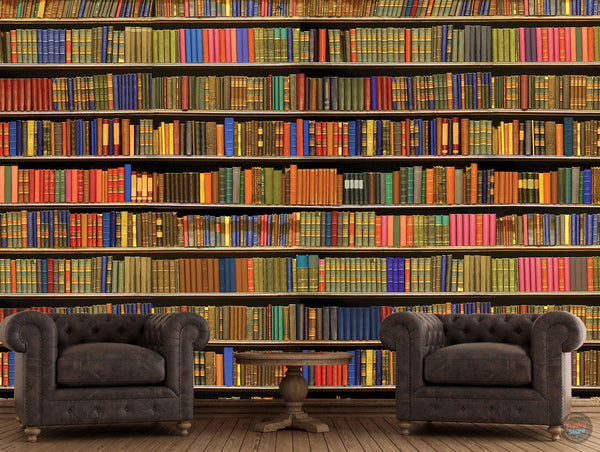 BOOKSHELF LIBRARY WALL MURAL 3.15M X 2.32M