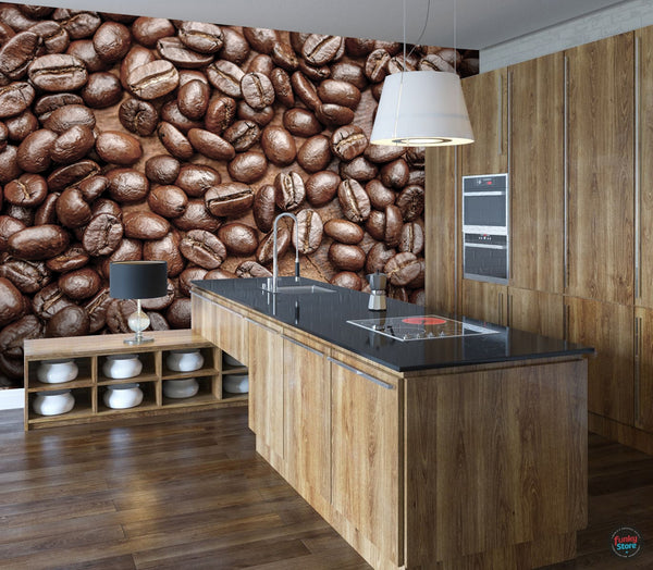COFFEE BEANS WALL MURAL