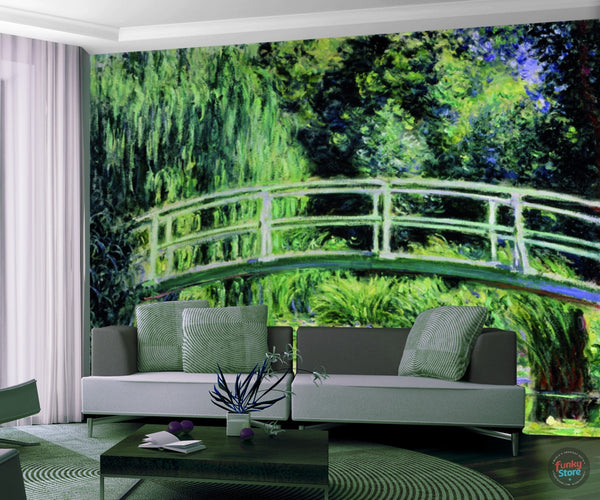 CLAUDE MONET JAPANESE BRIDGE WALL MURAL