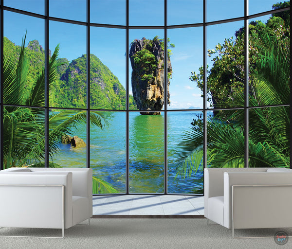 THAILAND WINDOW WALL MURAL
