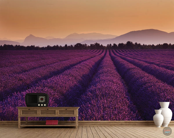 LAVENDER FIELDS WALL MURAL