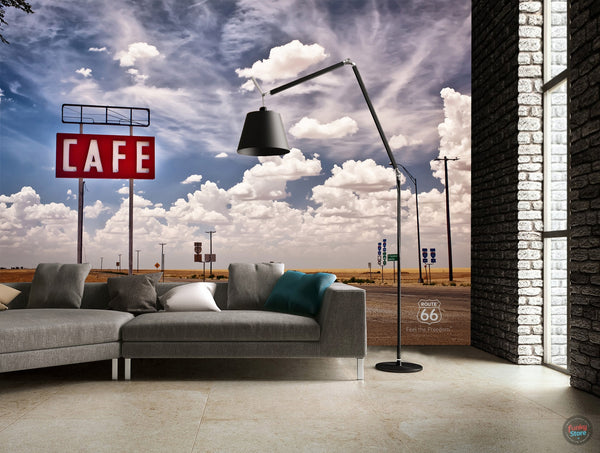 ROUTE 66 FOUR PIECE SKY MURAL