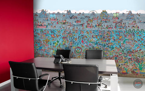 WHERE'S WALLY DEEP SEA WALL MURAL