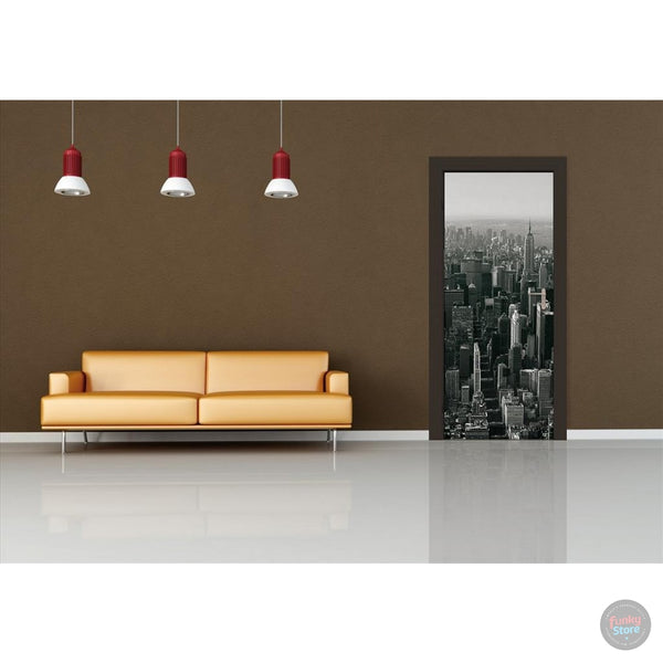NEW YORK SKYLINE DOOR MURAL