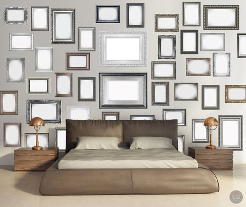 FRAMES CREATIVE COLLAGE WALLPAPER 64 PIECES