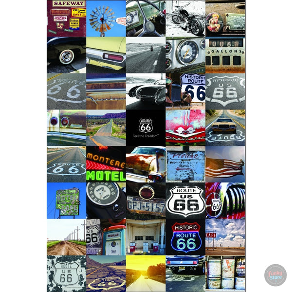 ROUTE 66 SIGN TWO PIECE MURAL