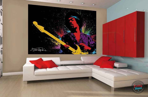 JIMMY HENDRIX WALL MURAL