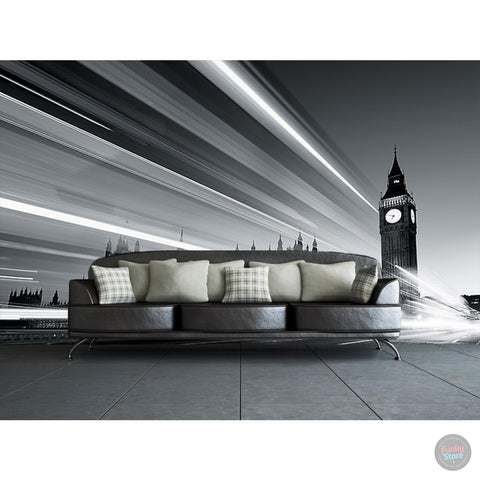 LIVELY LONDON BIG BEN WALL MURAL