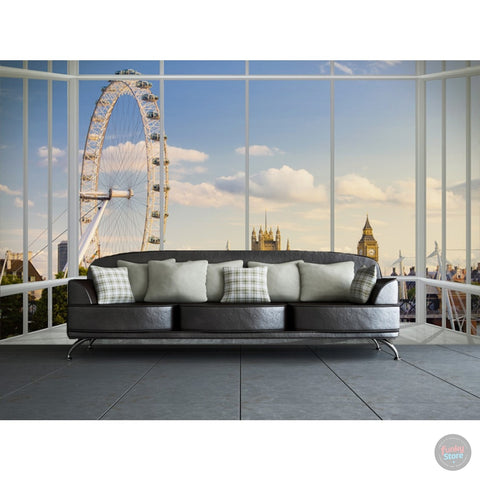 LONDON SKYLINE WINDOW WALL MURAL
