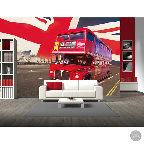 LONDON RED BUS WALL MURAL