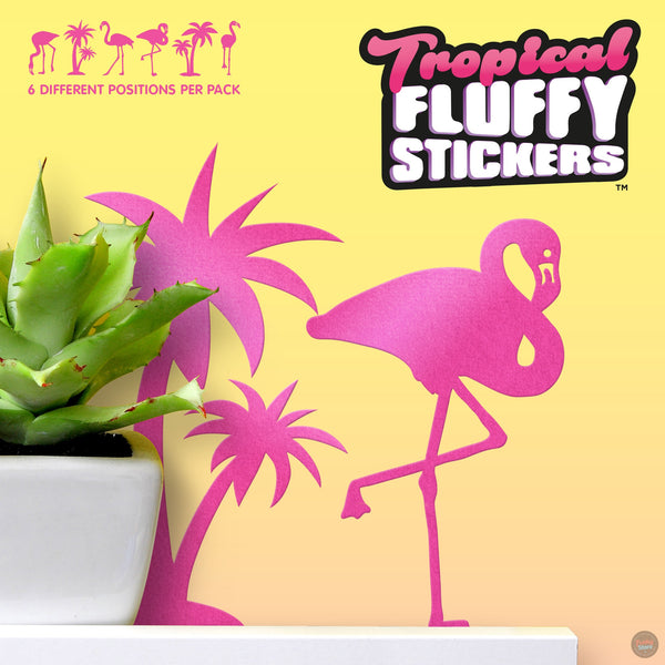 Tropical Fluffy Stickers