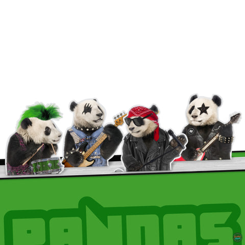 Pandas Rock Bookmarks