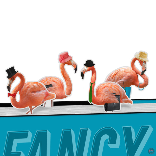 Fancy Flamingos Bookmarks