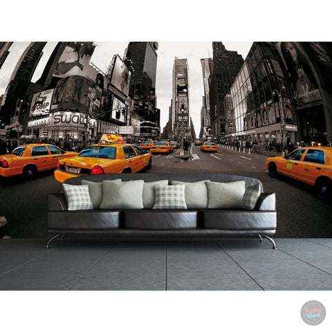 NEW YORK TAXI CABS WALL MURAL