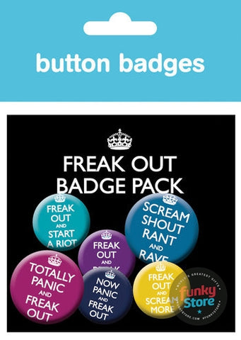 Now Panic And Freak Out Badge Pack