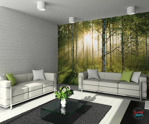SUMMER FOREST WALL MURAL