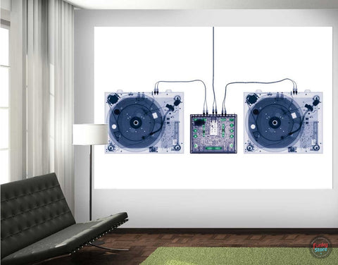 X-RAY DJ DECKS WALL MURAL