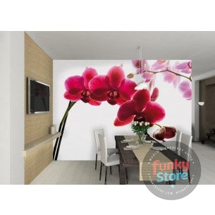 ORCHID FLORAL WALL MURAL