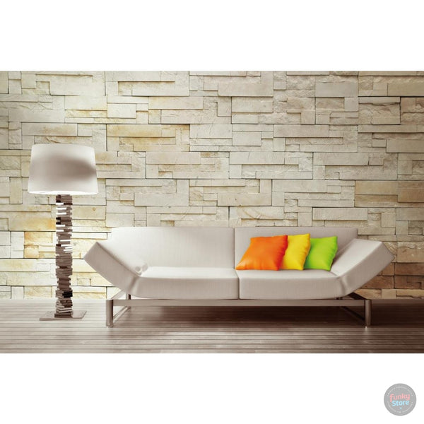 SANDSTONE EFFECT WALL MURAL