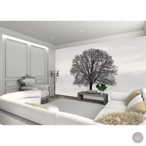 SILHOUETTE TREE WALL MURAL