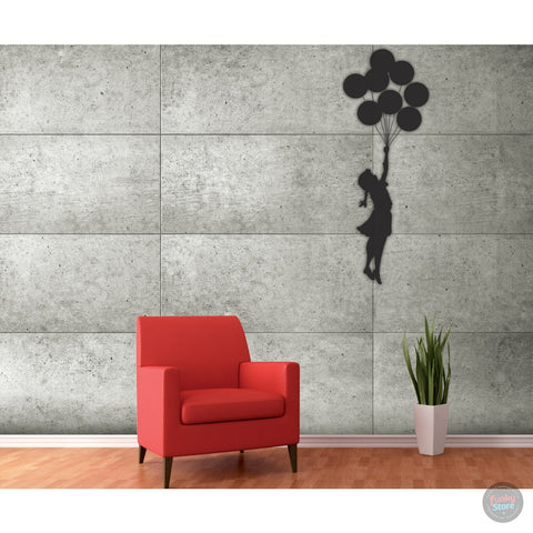 BANKSY BALLOON GIRL WALL MURAL