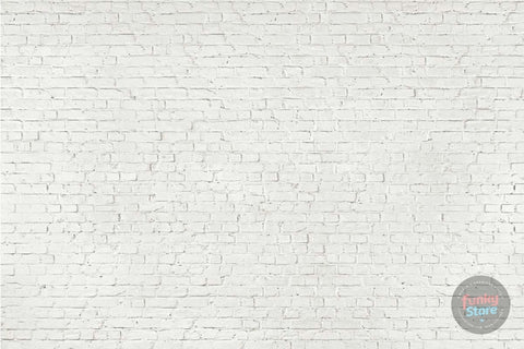 WHITE LOFT BRICK WALL MURAL