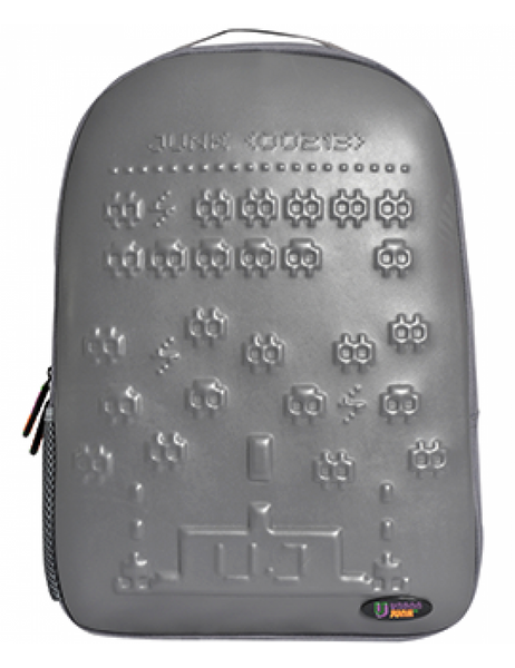 Space Invader Grey Backpack
