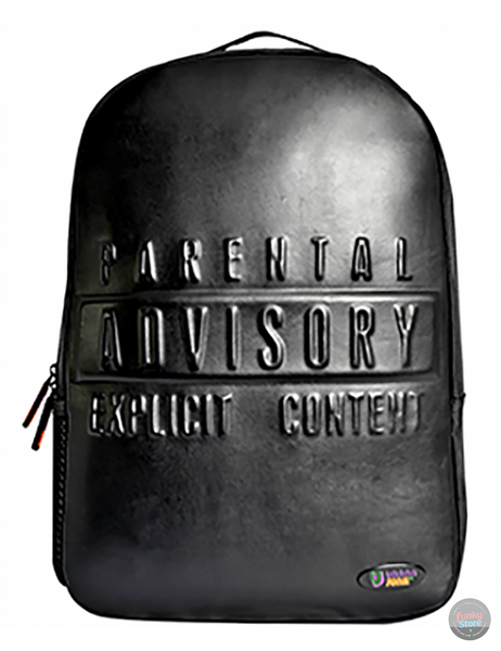 Warning Black Backpack